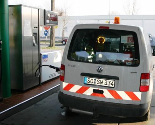 Erdgas Zapfstelle